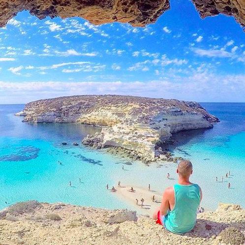 Isola dei conigli, Lampedusa